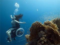 Tauchen mit Rollstuhl