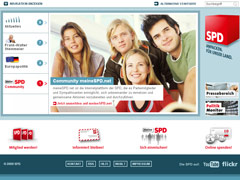 Homepage SPD aus dem Jahr 2009