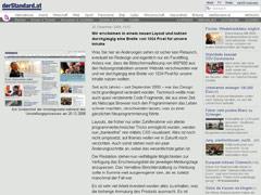 Homepage Der Standard Relaunch 2008