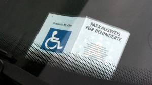 Fahrer mit Parkausweis § 29 b StVO