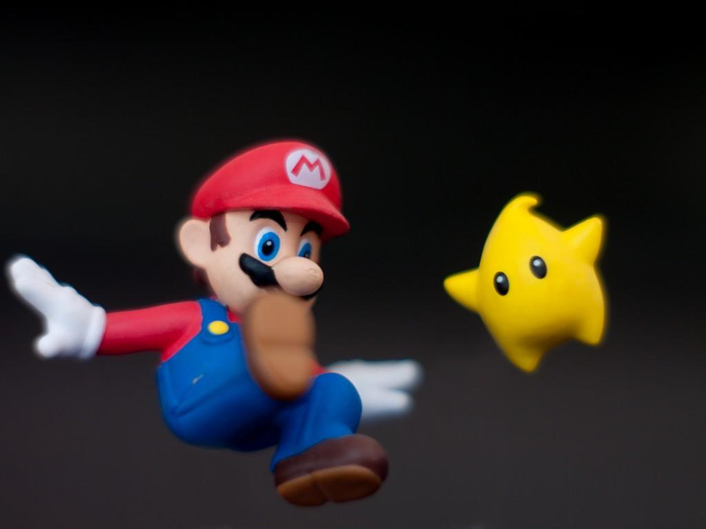 Super Mario in Aktion
