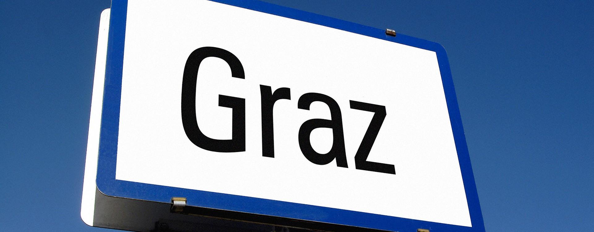 Tafel mit dem Aufdruck Graz