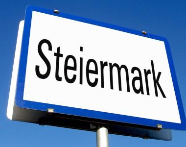 Tafel mit dem Aufdruck Steiermark