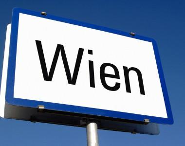 Tafel mit der Aufschrift Wien