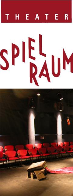 Logo und Innenraum Theater Spielraum