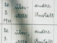 Überstellungsantrag Euthanasieanstalt