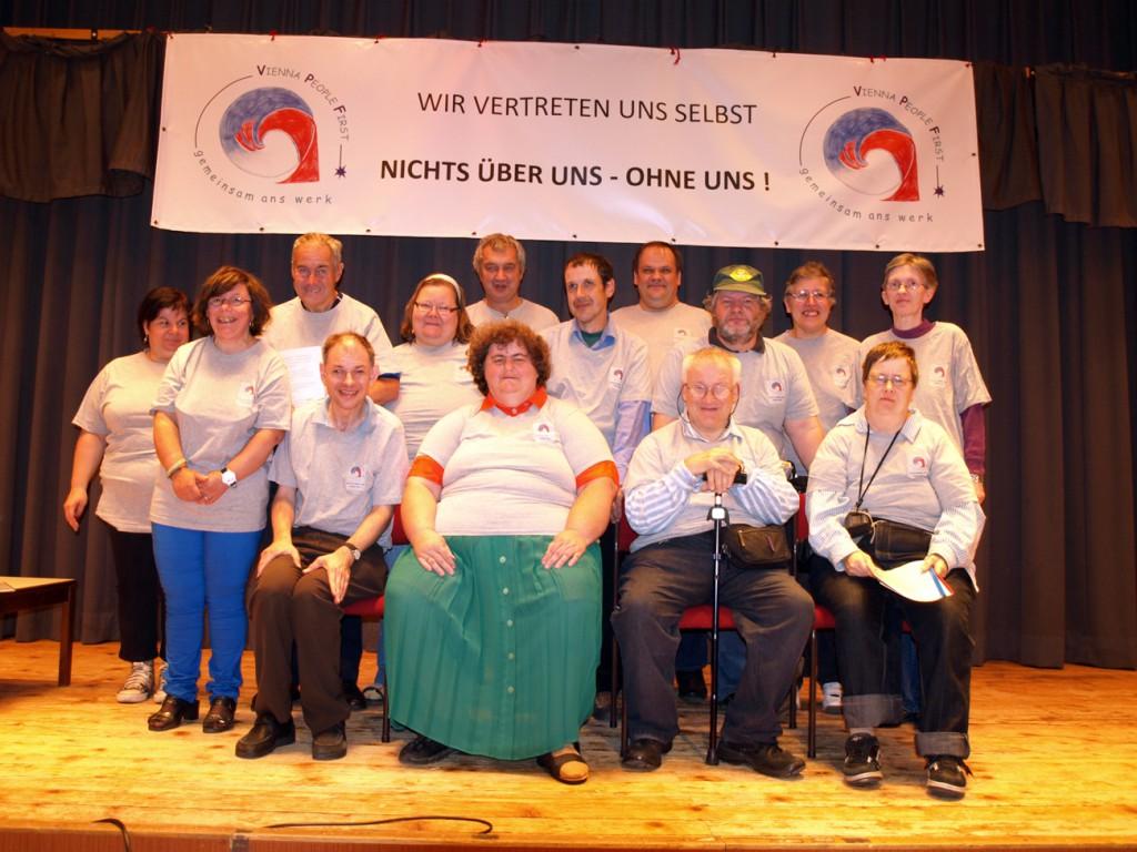 Gruppenbild 11 Jahre Vienna People First / 2012