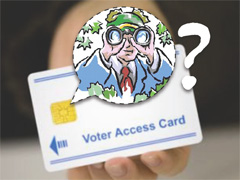 Voter access card