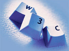 Tastaturtasten mit den Buchstaben W 3 C