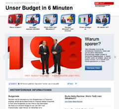 Screenshot Website warumsparen.at