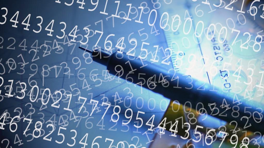 Symbolfoto Statistik mit vielen Zahlen