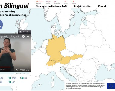 "Homepage Projekt ""De-Sign Bilingual"""