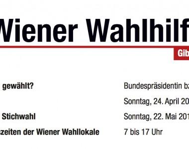 Kleine Wiener Wahlhilfe zur Bundespräsidentenwahl 2016