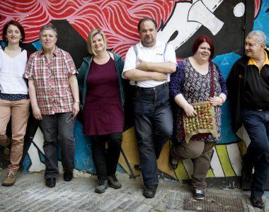 Gruppenfoto des Selbstvertretungs-Zentrum