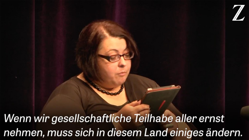 Z2X-Festival - Rede von Christiane Link: Wenn wir gesellschaftliche Teilhabe aller ernst nehmen, muss sich in diesem Land einiges ändern.