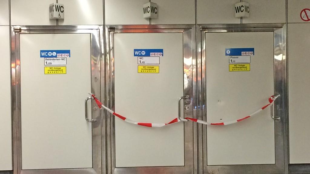 Gesperrte Toiletten der Wiener Linien