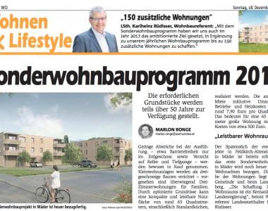 Artikel: Sonderwohnprogramm 2017