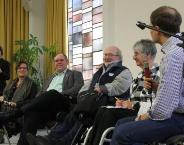Martina Puschke, Otmar Miles-Paul, Volker Schönwiese und Sigrid Arnade
