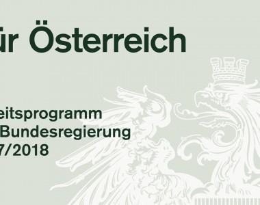 Deckblatt: Arbeitsprogramm der Bundesregierung 2017/2018