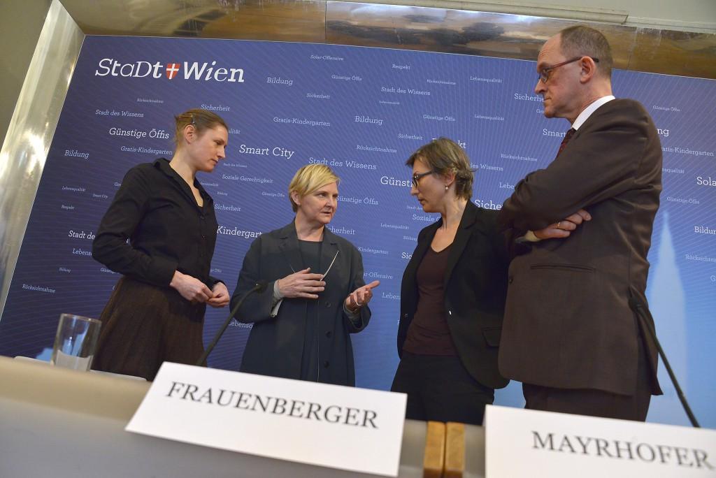 Katja Geiger, Sandra Frauenberger, Hemma Mayrhofer, Walter Hammerschick