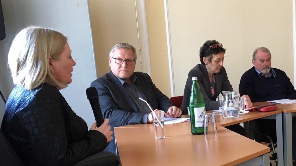 Monika Schmerold beim Hearing Behindertenanwaltschaft 2017