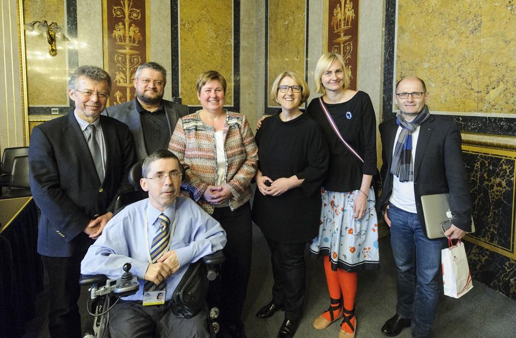 Christoph Gisinger, Rainer Wolfsberger, Martin Ladstätter, Burgi Recheis, Ruperta Lichtenecker, Helene Jarmer, Klaus Miesenberger