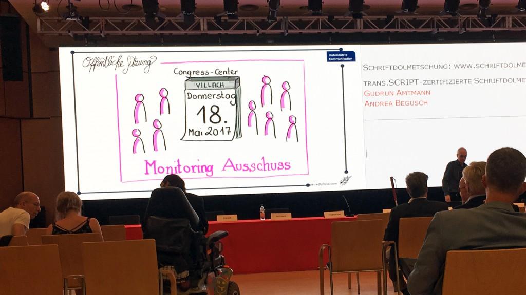 Sitzung des Monitoringausschusses am 18. Mai 2017 in Villach