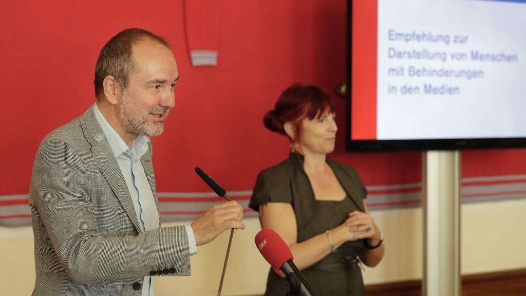 Thomas Drozda bei Veranstaltung Darstellung von Menschen mit Behinderungen in den Medien