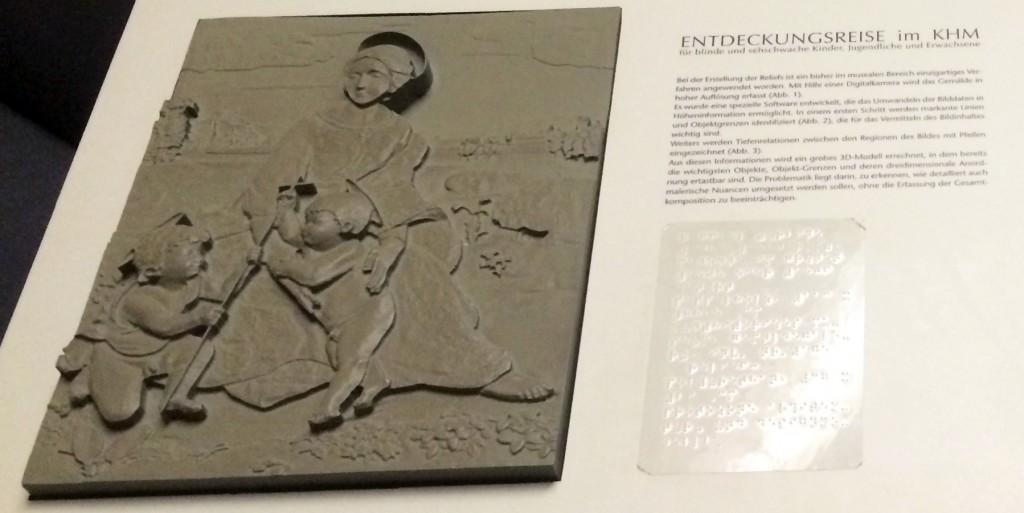 Tastbild im Kunsthistorischem Museum in Wien