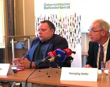 Pressekonferenz Herbert Pichler und Hansjörg Hofer zu Forderungen an eine zukünftige Regierung