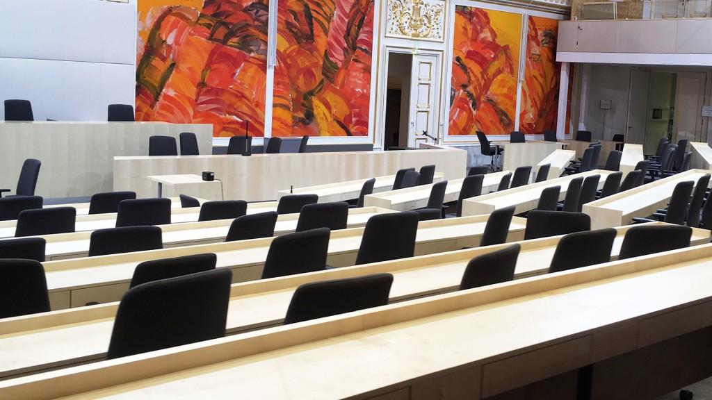 Sitzungssaal Parlament Ausweichquartier in der Hofburg