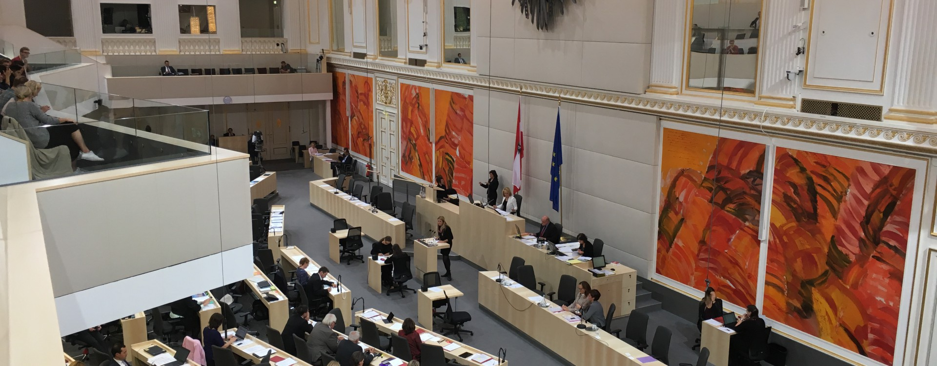 Plenum des Nationalrates in der Hofburg