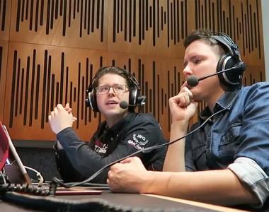 Johannes Karner und Ben Kainz bei Audiodeskription