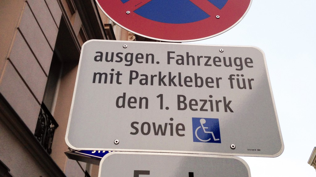 AnwohnerInnenparkplätze - auch für behinderte Menschen