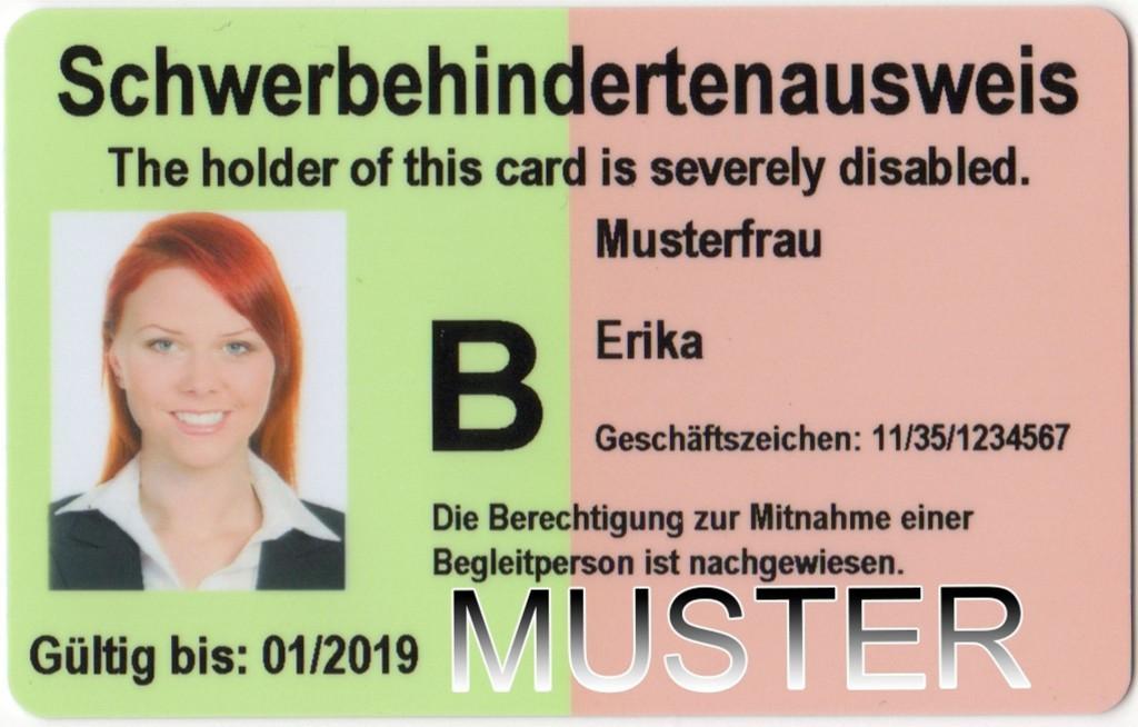 Muster Schwerbehindertenausweis Deutschland