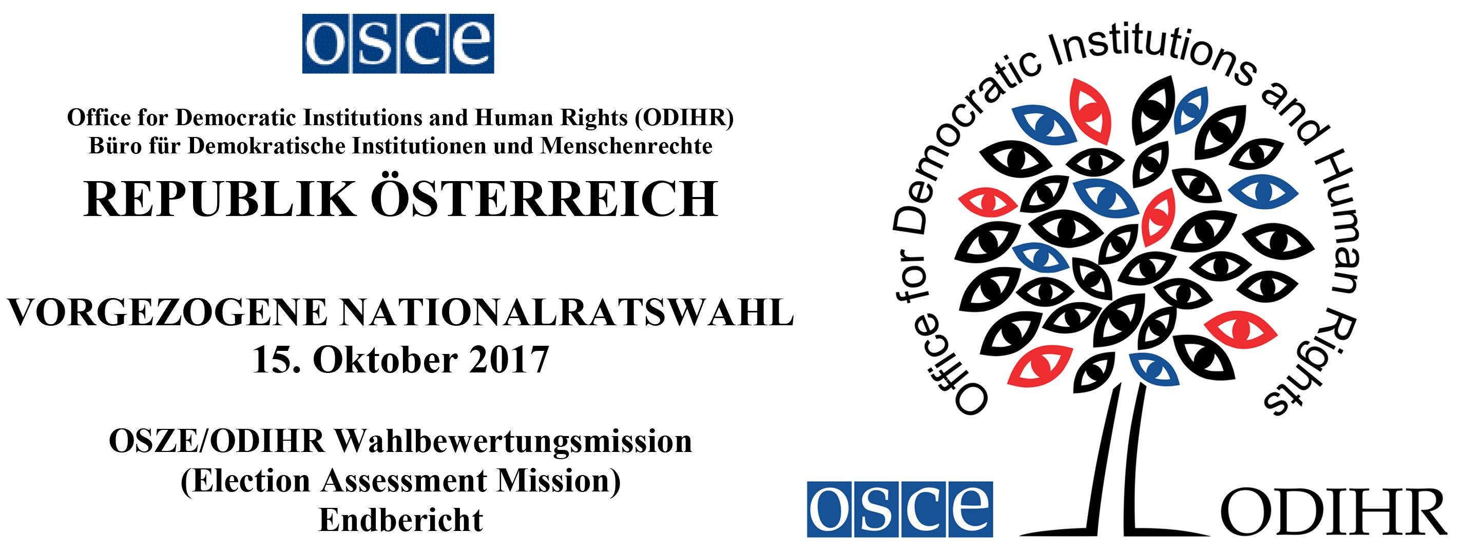OSCE-Bericht zur Nationalratswahl 2017