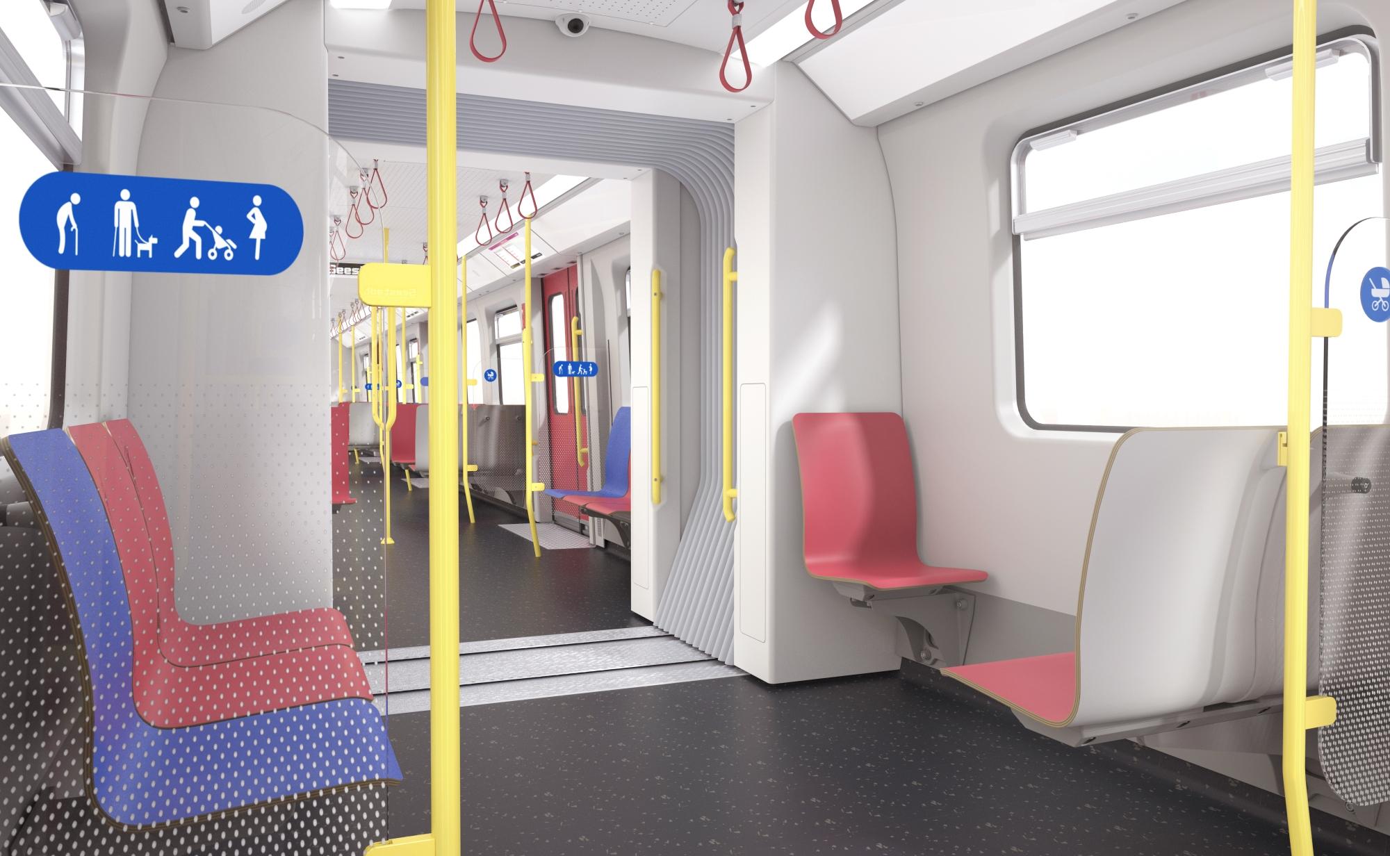 Innenansicht der X-Wagen U-Bahn Wien