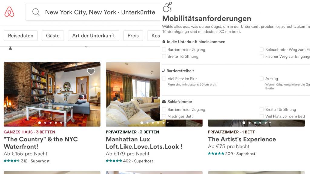 airbnb bietet barrierefreie unterk nfte an bizeps. Black Bedroom Furniture Sets. Home Design Ideas