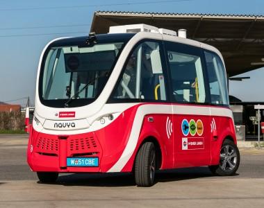 Wiener Linien testen den ersten autonomen e-Bus von Navya