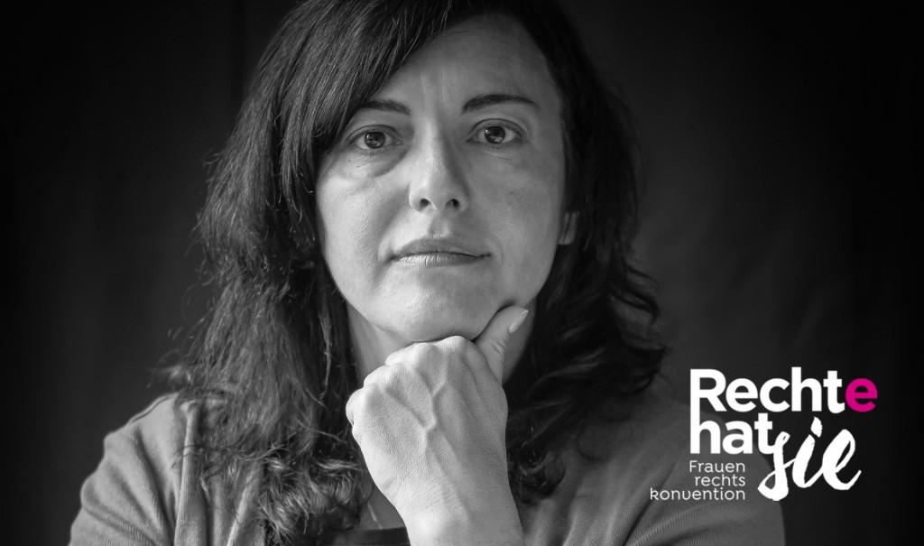 Portrait einer Frau - Rechte hat sie / Frauenrechtskonvention