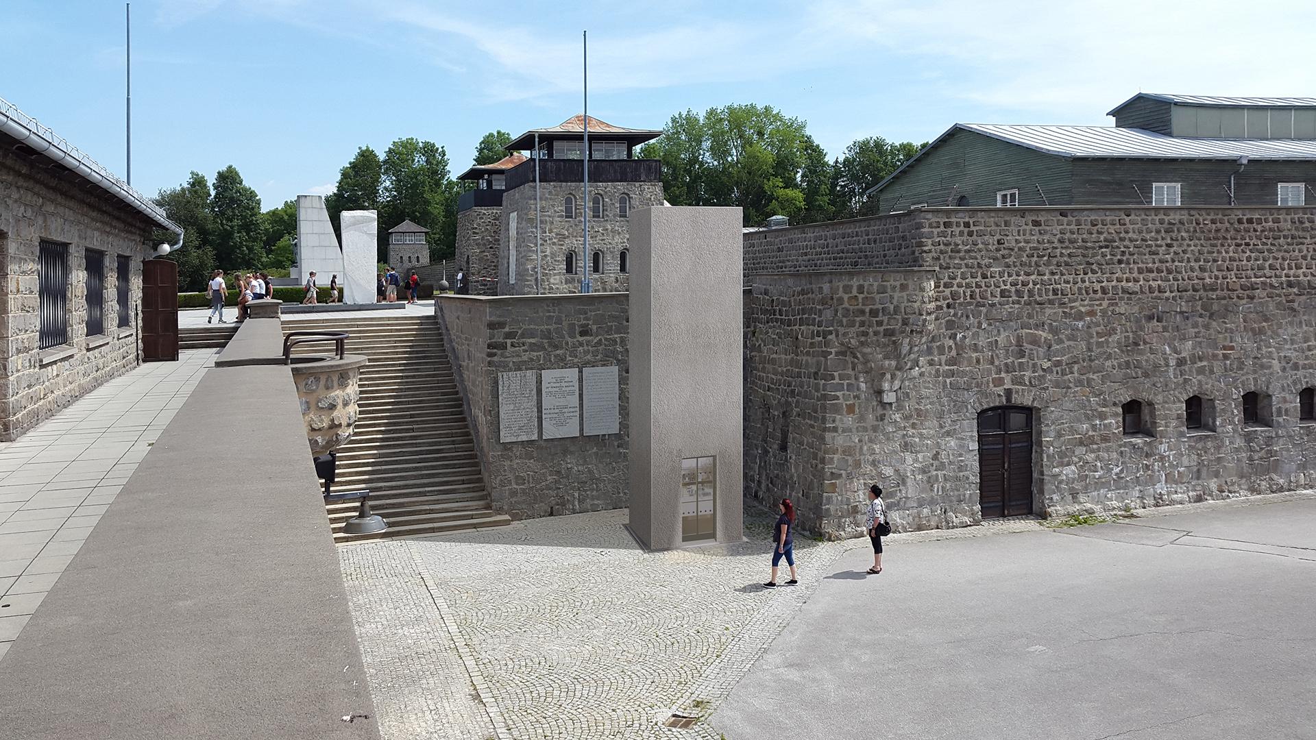 Darstellung des Lift für das Konzentrationslager Mauthausen