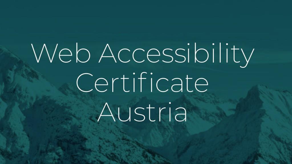 Web Accessibility Certificate Austria (WACA)