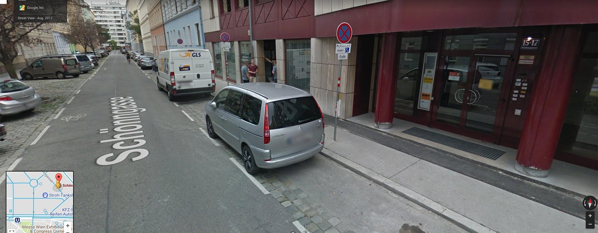 Blick auf Schönngasse 15-17 bei Google Street View