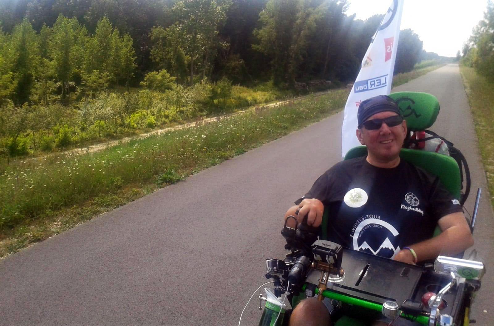 Harry Großmayer bei seiner Harry´s E-Wheels-Tour