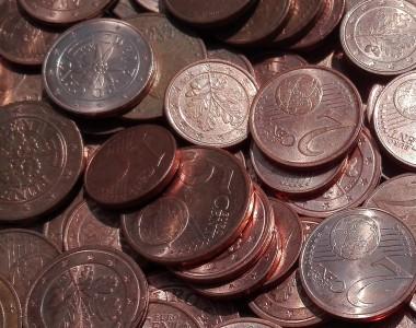 Viele Cent Münzen