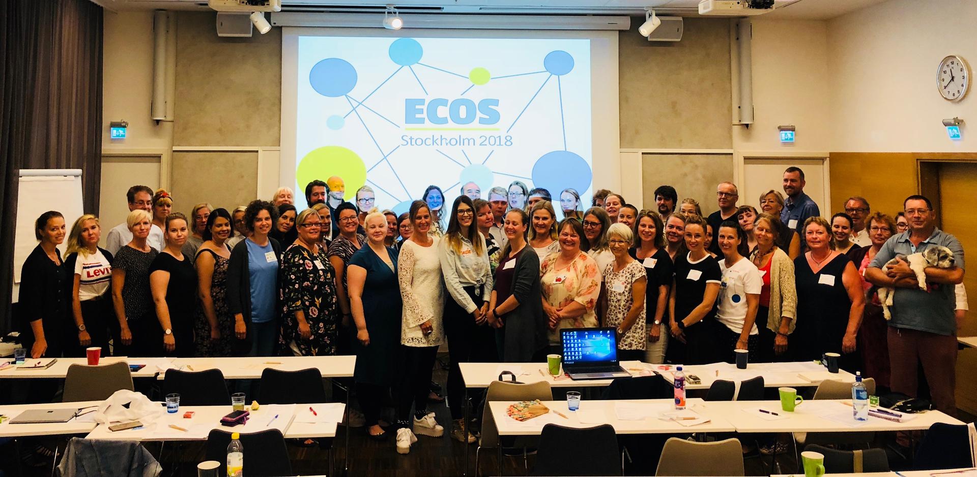 Gruppenbild Teilnehmerinnen und Teilnehmer von ECOS Stockholm 2018