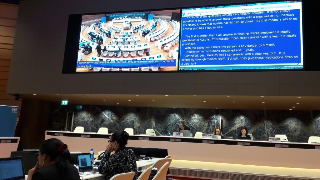 UN-Fachausschuss trifft VertreterInnen aus Österreich in Genf