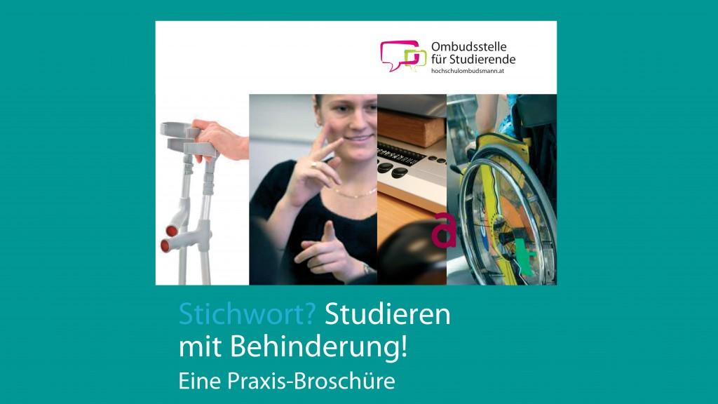 Broschüre: Studieren mit Behinderung