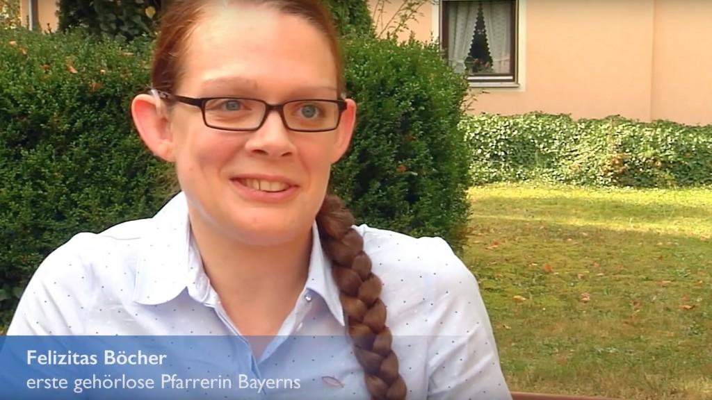 Felizitas Böcher - erste gehörlose Pfarrerin Bayerns
