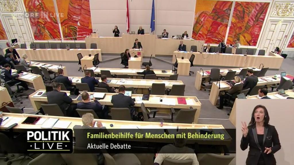 Aktuelle Debatte zur Reparatur der Familienbeihilfe für Menschen mit Behinderung am 24.10.2018